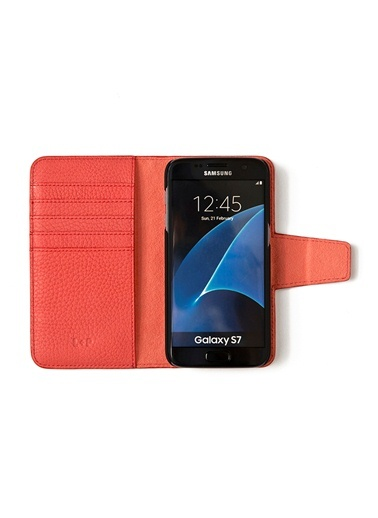 Samsung Galaxy S7 Deri Telefon Kılıfı-Leather & Paper